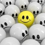 Ein Smiley lacht