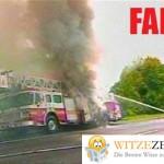 Feuerwehr löscht sich