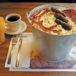 Frühstück im Eimer