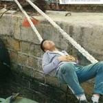 Schlafen auf Seil