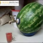 Wassermelone mit Hahn